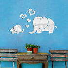 3D DIY Removable Elephant Mirror Wall stickers Decals Home Room Decoration Art