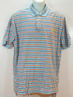 POLO RALPH LAUREN Mens Polo Shirt Pique Beach 2 Light Blue Stripe size sz XL NEW