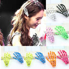2pcs Skeleton Hand Bone Hair Clips Hair pins Punk Gothic Zombie Halloween Party