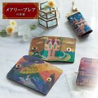 Mary Blair Disney Cowhide Alice Small World Key Charm Ring Holder Japan E3165