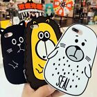 3D Sea Animal Cartoon Soft Silicone Case Cover For iPhone 5 5S 5C 6 6S 7 / Plus