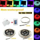 0.5m/1m/2m 5050 RGB NON-Waterproof LED Strip Light Battery Powered with Remote