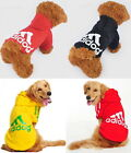 Pet Puppy Large Dog Labrador Adidog Clothes Coat Jacket Sweater Hoodie Costume