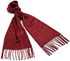 Andrew Noble Men's Solid Scarf Made in Italy Burgandy