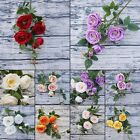 6 Heads Artificial Fake Rose Flower Bridal Bouquet Wedding Party Home Decor 94cm