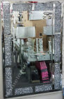 Round OR rectangle wall mirrors with thick inlaid crushed diamonds/crystals