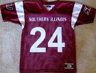 SOUTHERN ILLINOIS SALUKIS YOUTH FOOTBALL JERSEY #24 NEW! YOUTH MED., LARGE OR XL