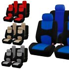 9 Part Car Seat Covers Set for Auto w Steering Wheel Belt Pad Head Rests 4 Color