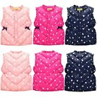 Toddler Kids Baby Girls Floral Warm Waistcoat Vest Jacket Winter Outerwear 1-6T
