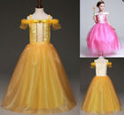 Kid Girl Beauty and the Beast Princess Belle Party Costume Fancy Dress