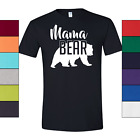 Mama Bear T-Shirt Womens Mom Gift High Quality Soft Cotton Tee Colors Size S-3XL