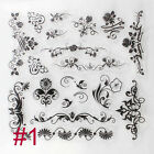 Craft Decorating Christmas Tree Flower Silicone Rubber Transparent Stamp