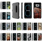 For Samsung Galaxy S Series Rugged Hybrid Holster Belt Clip Armor Sports Case