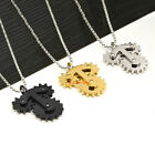 Heavy Stainless Steel Spinning Gear Necklace Pendant Mechanic Spinner Charm