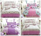 Lace Cotton Duvet Covers Quilt/Doona Cover Set Single Queen King Size Bed New