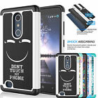 For ZTE Zmax Pro / Z981 Armor Shockproof Hybrid Impact Rubber Hard Case Cover