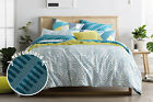 NEW Sheridan Zofia Quilt Cover Set - Sea Green
