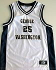 GEORGE WASHINGTON COLONIALS MEN'S BASKETBALL JERSEY NCAA #25 NEW! MEDIUM OR LG