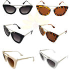 Wholesale Women's Fashion Designer Eyewear Cat Eye Sunglasses Metal Frame 393