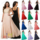 Chiffon Lace Evening Wedding Formal Ball Gown Long Bridesmaid Party Prom Dress