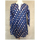 polka dots gifts - Gabriella's Gifts Long Sleeve Blue Polka Dots Tunic Beach Cover Up Top