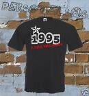 T-SHIRT DATE OF BIRTH 1995 A STAR WAS BORN gift idea humor funny