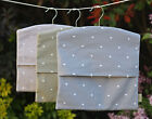 Shabby Chic Peg Bag Laundry Washing Clothes Bag Polka Grey Taupe Heart fabric