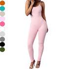 Stretch Jumpsuit Romper Lady Long Blouse Top Bodysuit Women Sleeveless Leotard