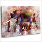 Elephant Abstract Watercolour Canvas Print Framed Animal Wall Art Picture .3