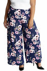 New Ladies Trouser Plus Size Womens Palazzo Floral Print Wide Leg Pants Nouvelle