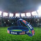 1/3PCS Silica Gel Wristband American Flag Bangle Silicone Bracelet Jewelry