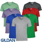 Gildan MEN'S T-SHIRT V-NECK SOFT TOUCH COTTON GYM SUMMER TOP CASUAL BASIC S-2XL