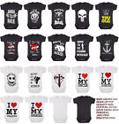 UNISEX BABY GROWS/Rock/Metal/Skull/Tattoo/Funny/Toddler/Newborn/Gift/Bodysuit