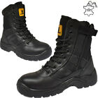 MENS NON SAFETY ARMY MILITARY MOTORCYCLE LIGHTWEIGHT WORK LACEUP SECURITY BOOT