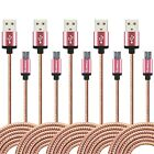 Lot 10FT Braided USB Charger Cable Sync for Samsung Galaxy HTC LG Android