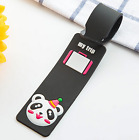 Silicone Cartoon Travel Luggage Tags Suitcase Baggage Label with Name Address <br/> 5% off 2+ and 12 style for selection! 1000+ sold