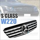 Sport Front Mesh Grill for Mercedes Benz S Class W220 2000-2002 AMG *4 VERSION