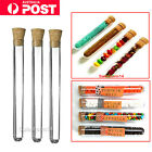 10/30/50X Plastic Test Tubes With Cork Stopper 20ML Volume Candy Party Wedding