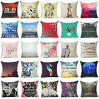 "18"" Colorful Art Cotton Linen Throw Pillow Case Sofa Cushion Cover Home Decor"