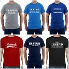 Ment Retired T-Shirt Funny Gift For Dad / Grandpa Retirment Christmas Birthday