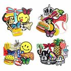 10 Pieces Iron on Embroidered Applique Decoration Patches DIY Sew on  PT17-10PK
