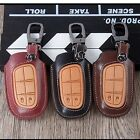 Leather Key fob Case Cover For Jeep Renegade Grand Cherokee Chrysler 300C Fiat