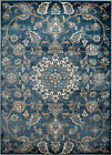 MODERN AREA RUG; BLUE FLORAL ORIENTAL-APROX SIZE OPTIONS 2'X3' 2'X7' 4'X5' 5'X7'