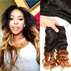 Beauty Peruvian Body Wave 1b/27# T-Tone Virgin Human Hair  Weave 1Bundle /100g