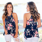 Women Summer Floral Vest Sleeveless Shirt Blouse Casual Loose Tank Tops T-Shirt