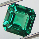 Lab Created Hydrothermal Emerald Green Asscher Faceted Loose Stone 4x4-14x14mm