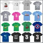 Kids 3 Years Old Birthday T-Shirt - Party 3rd Boy Girl Toddler Youth Age Three