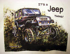 Mud Truck T-shirt 4x4 offroad lifted JEEP THING! bogger white tee mudder