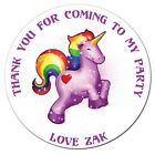 Personalised Custom Shiny Gloss Unicorn Birthday Stickers Party Bag Thank You