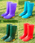 women's mid calf boots Solid Colors Height Wellies rain boots waterproof shoes
